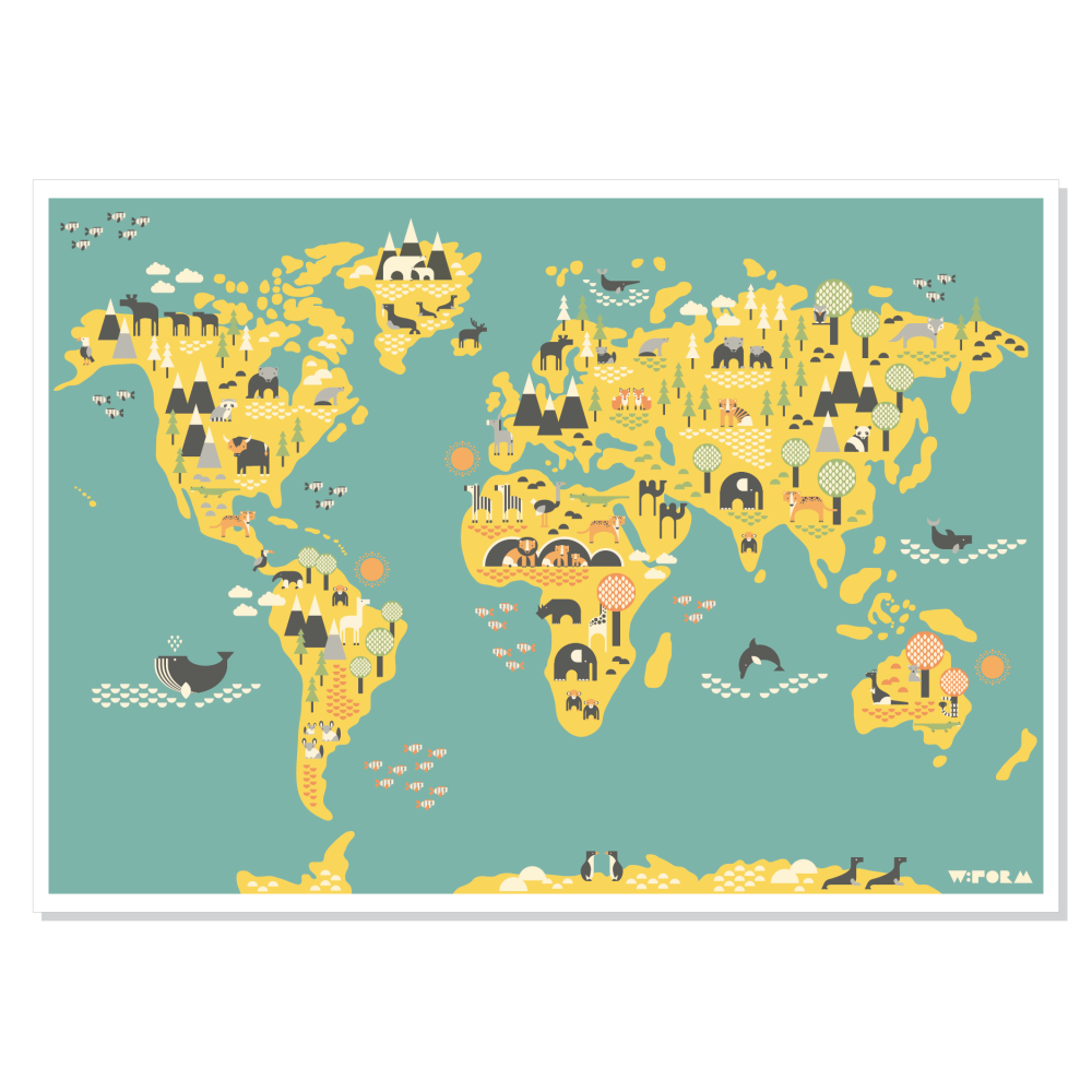 plakater tilbørn med dyr
